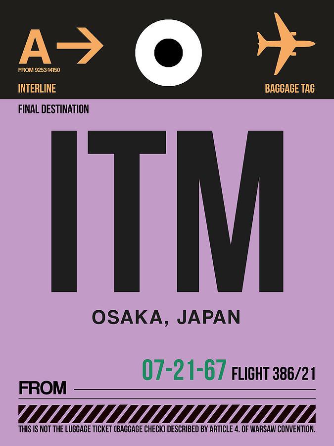 Vacation Digital Art - Itm Osaka Luggage Tag I by Naxart Studio