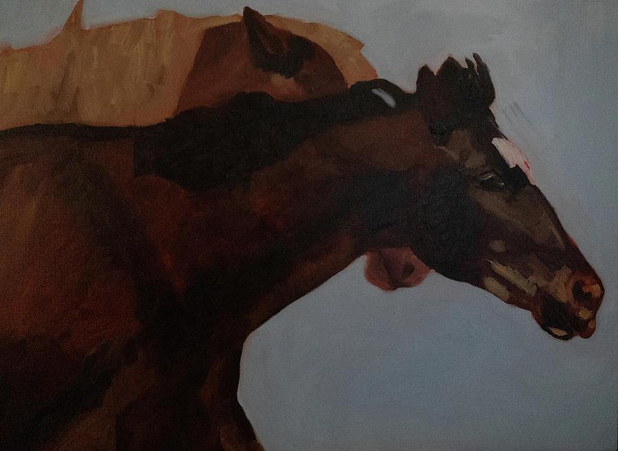 It's a Race by Fine Art Western Paintings