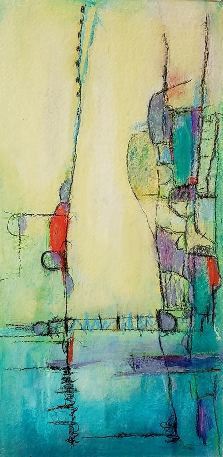 Abstract Mixed Media - Its Complicated by Ellen Kirwan