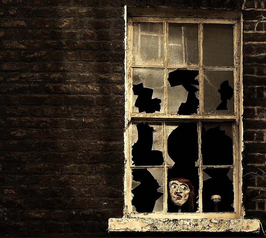 Window Photograph - Its Halloween Time... by Barbara Orienti