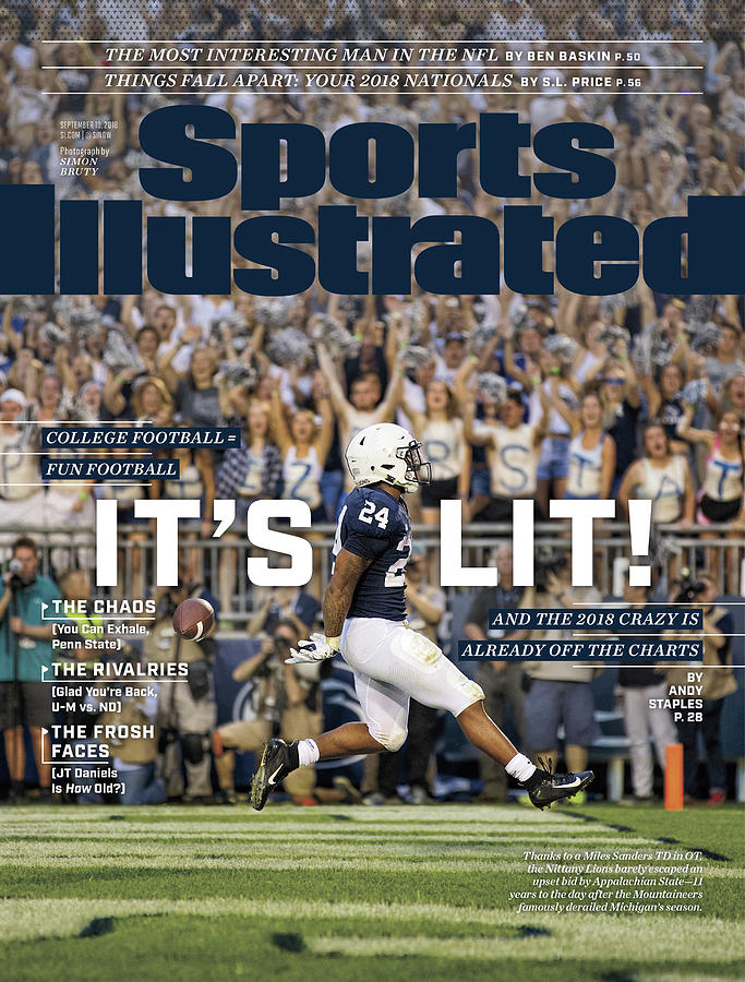 Its Lit And The 2018 Crazy Is Already Off The Charts Sports Illustrated Cover Photograph by Sports Illustrated