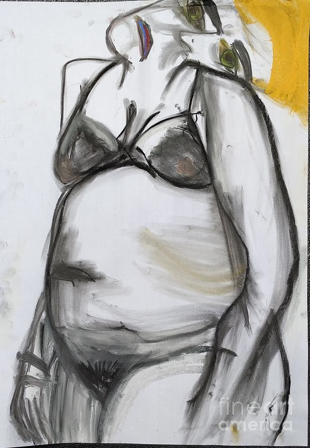 Woman in yellow by Siobhan Dempsey