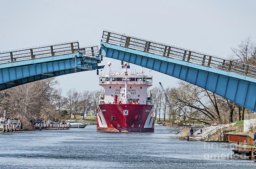 Iver Bright Tanker Visits Manistee by Sue Smith