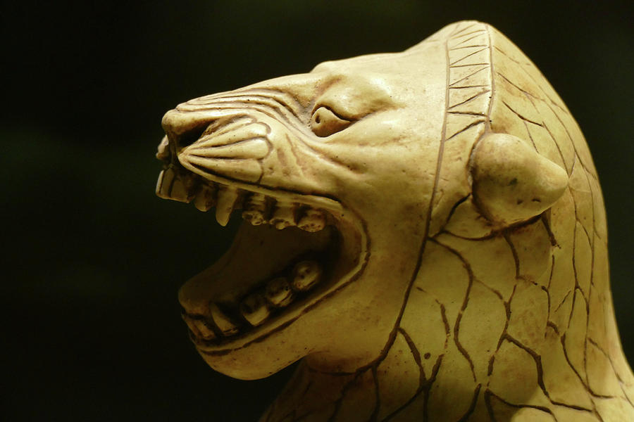 Ivory statue of seated lion from Alintepe by Steve Estvanik