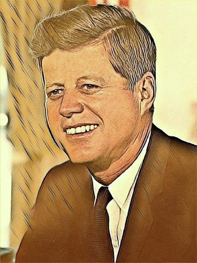 John F Kennedy Mixed Media