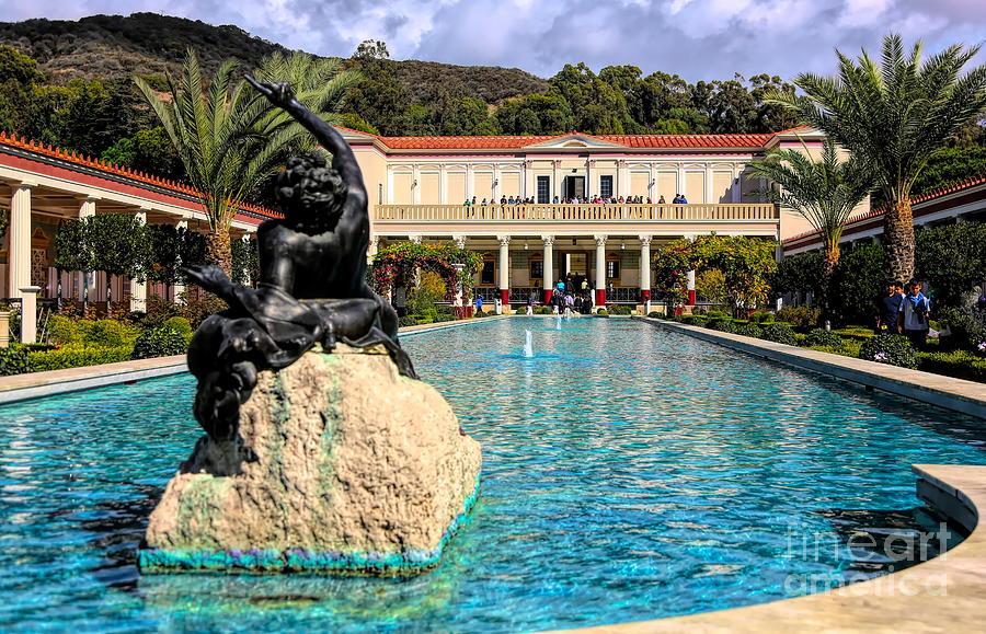 Getty Photograph - J Paul Getty Villa Pacific Palisades California by Chuck Kuhn