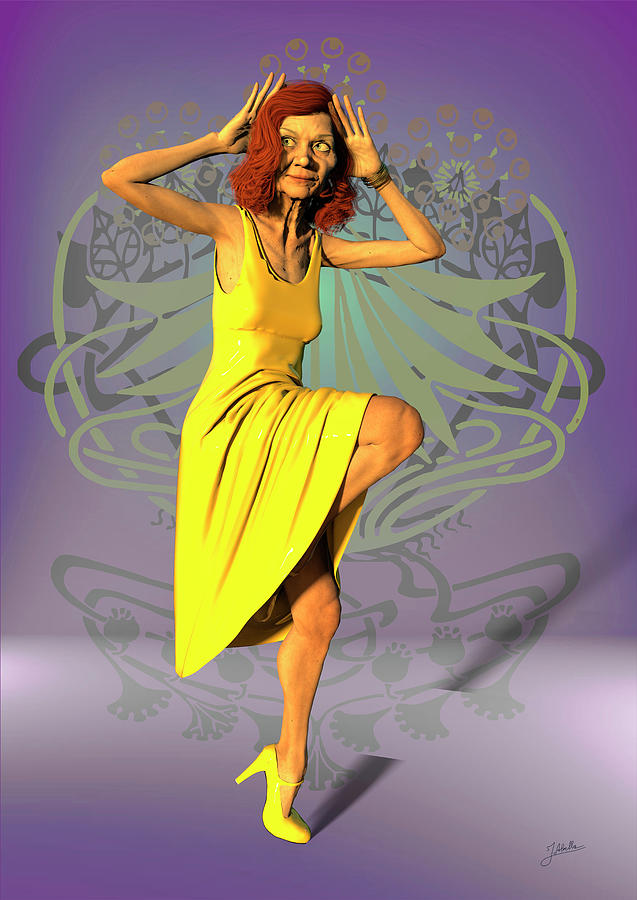 Jacinta Digital Art - Jacinta In Yellow by Joaquin Abella
