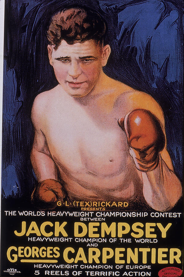 Jack Dempsey Boxing Poster Photograph by Hulton Archive