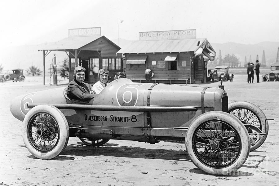 Jack Dempsey In Duesenberg Racing Car Photograph by Bettmann