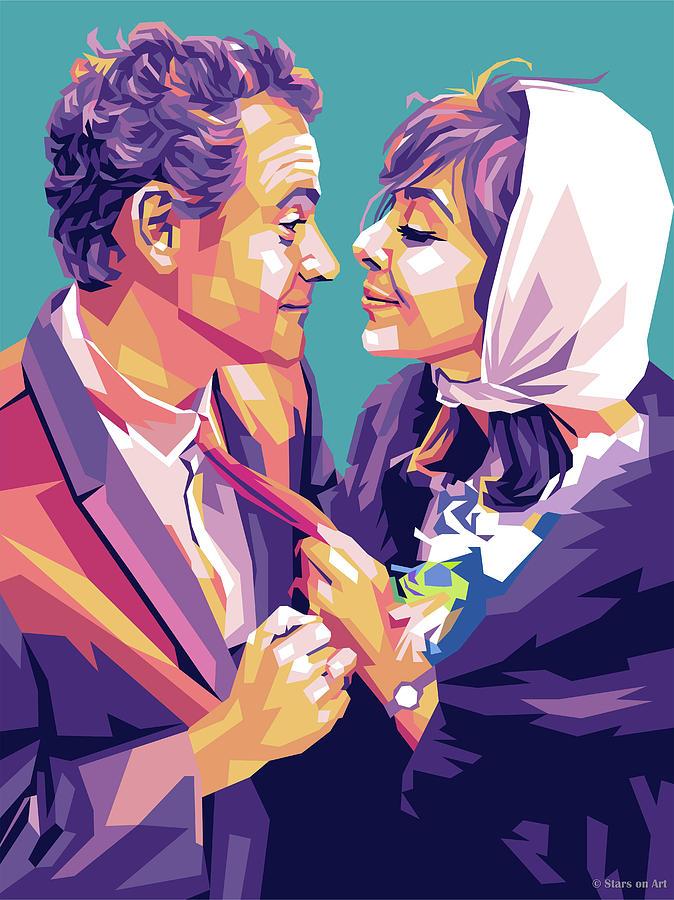 Jack Lemmon And Elaine May Painting