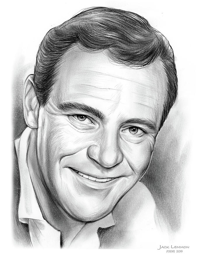 Jack Lemmon Drawing