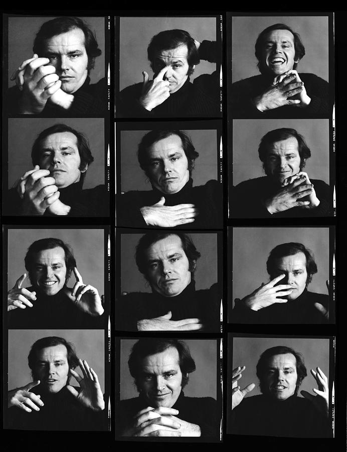 Jack Nicholson Contact Sheet Photograph by Jack Robinson