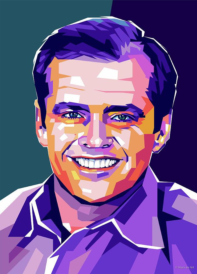 Jack Digital Art - Jack Nicholson Portrait by Stars on Art
