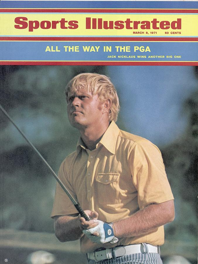 Jack Nicklaus, 1971 Pga Championship Sports Illustrated Cover Photograph by Sports Illustrated