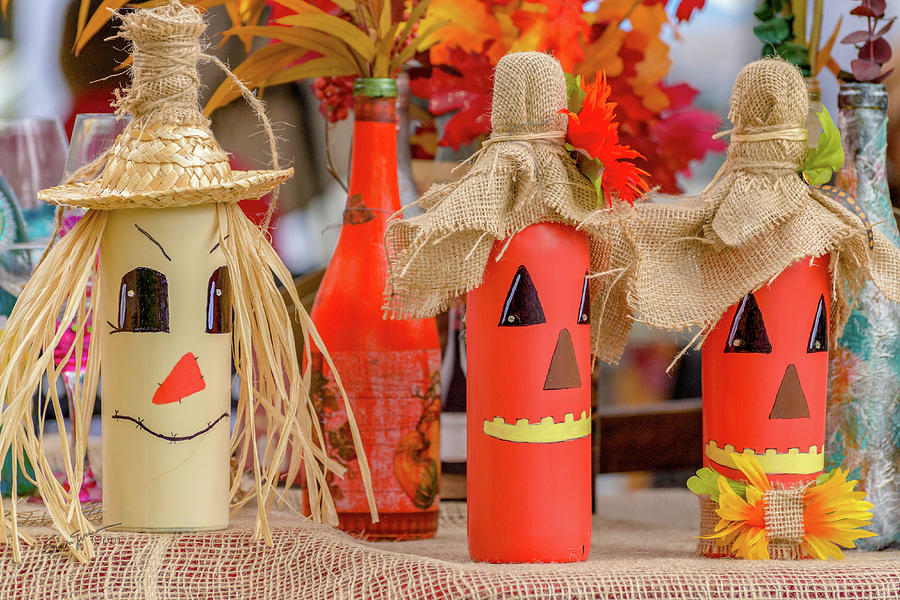 Jack-o-bottles by Erich Grant