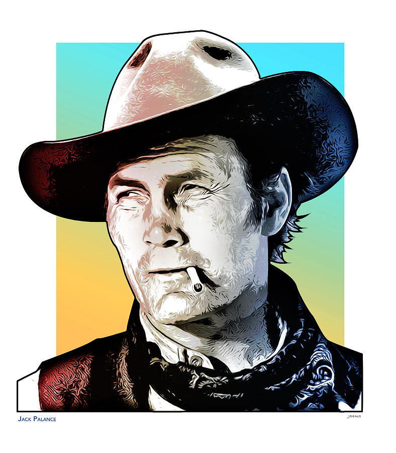Jack Palance Drawing - Jack Palance Pop Art by Greg Joens