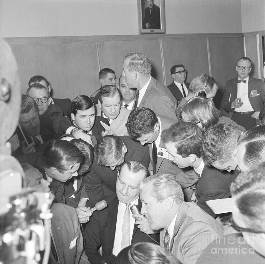 Jack Ruby With Lawyer Outside Court Photograph by Bettmann