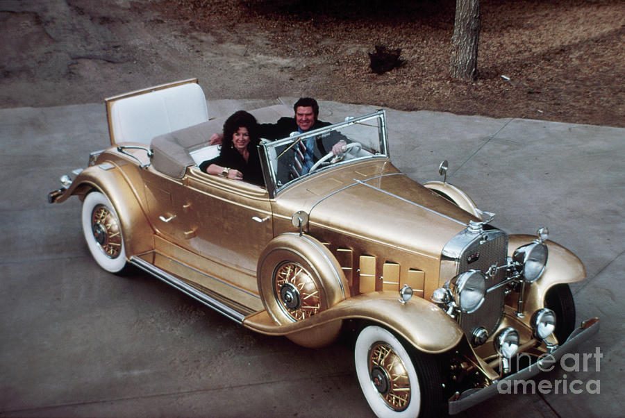 Jack Smith In Gold Plated 1931 Cadillac Photograph by Bettmann