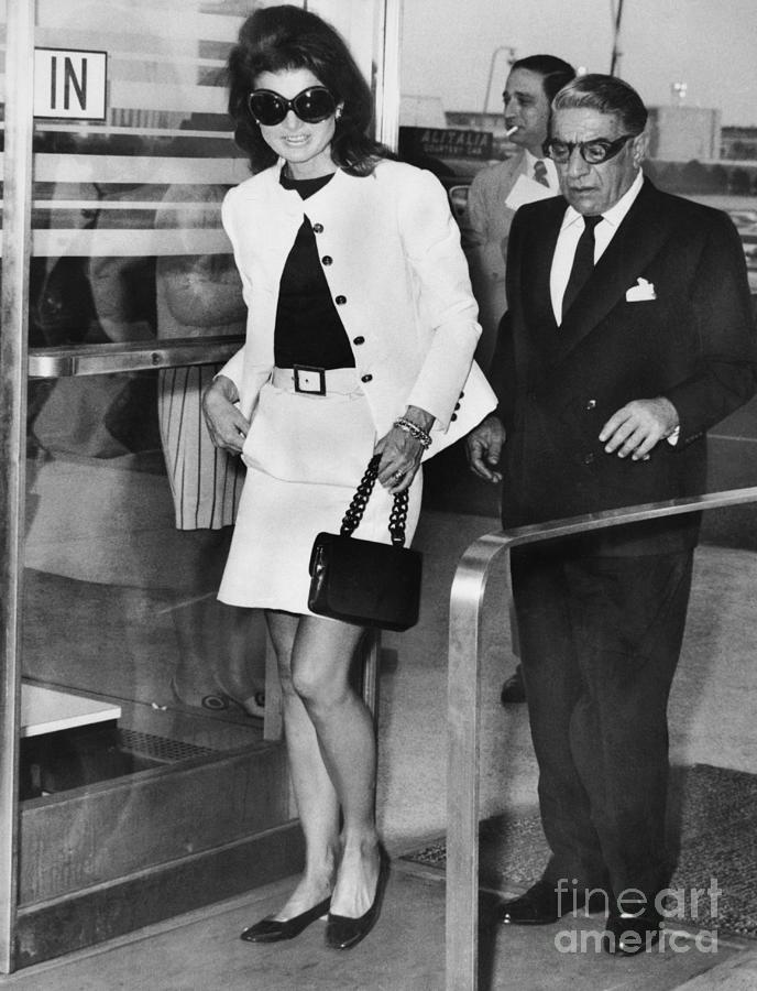 Jackie Onassis And Aristotle Onassis Photograph by Bettmann