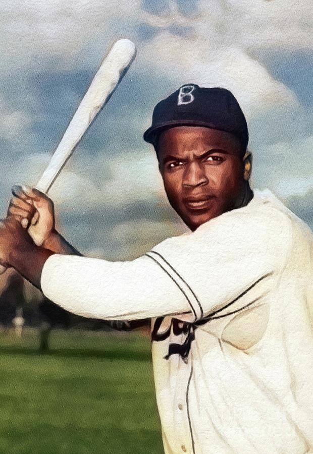 Jackie Robinson, Baseball Legend Painting