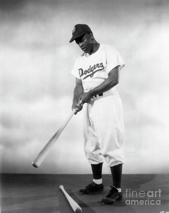 Jackie Robinson Full Figure Portrait Photograph by Transcendental Graphics