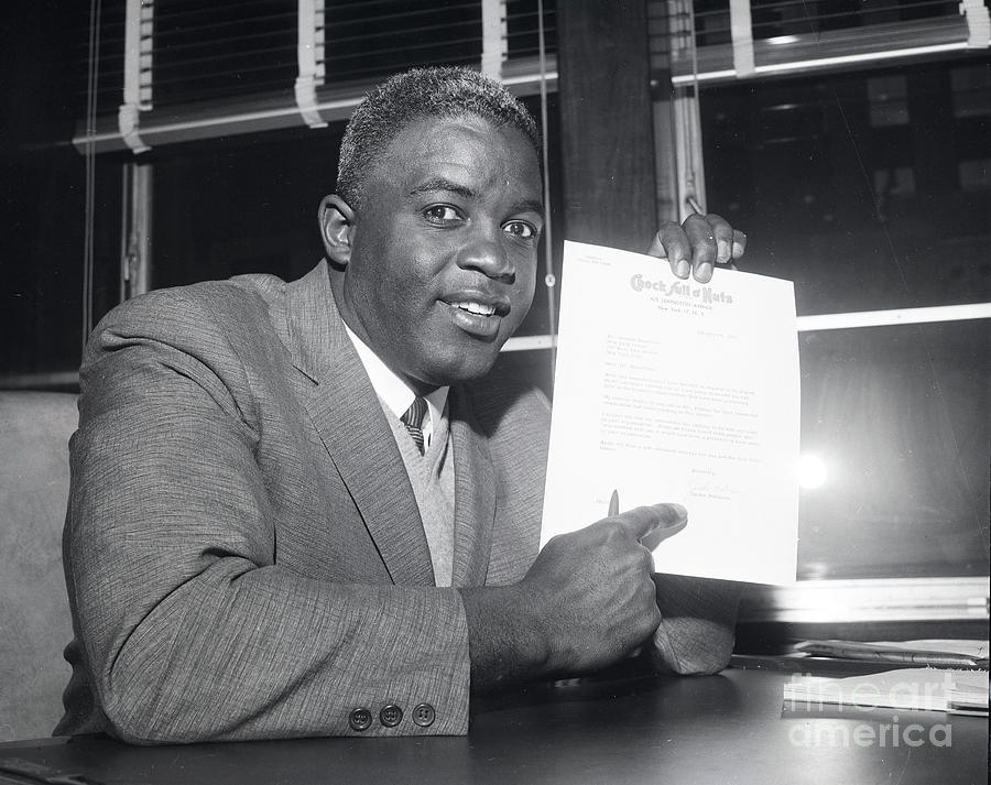 Jackie Robinson Retires 1957 Photograph by Transcendental Graphics
