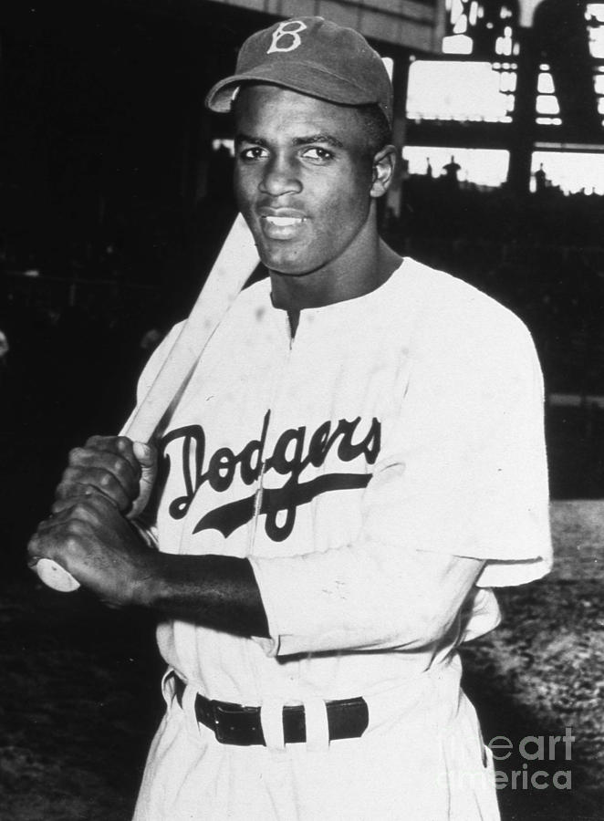 Jackie Robinson Rookie Dodgers Portrait Photograph by Transcendental Graphics