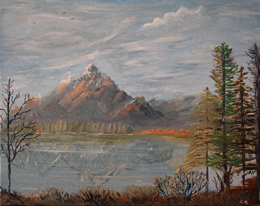 Jackson Hole and Grand Teton Autumn Lake, Wyoming by Chance Kafka