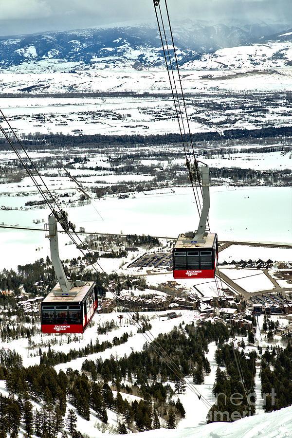 Jackson Hole Twin Trams by Adam Jewell