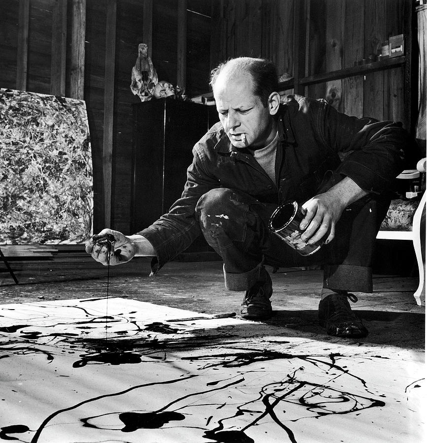 Jackson Pollock Photograph by Martha Holmes