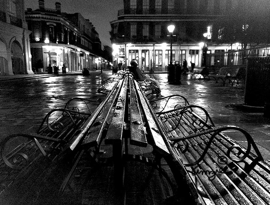 JACKSON SQUARE IN THE RAIN by Amzie Adams
