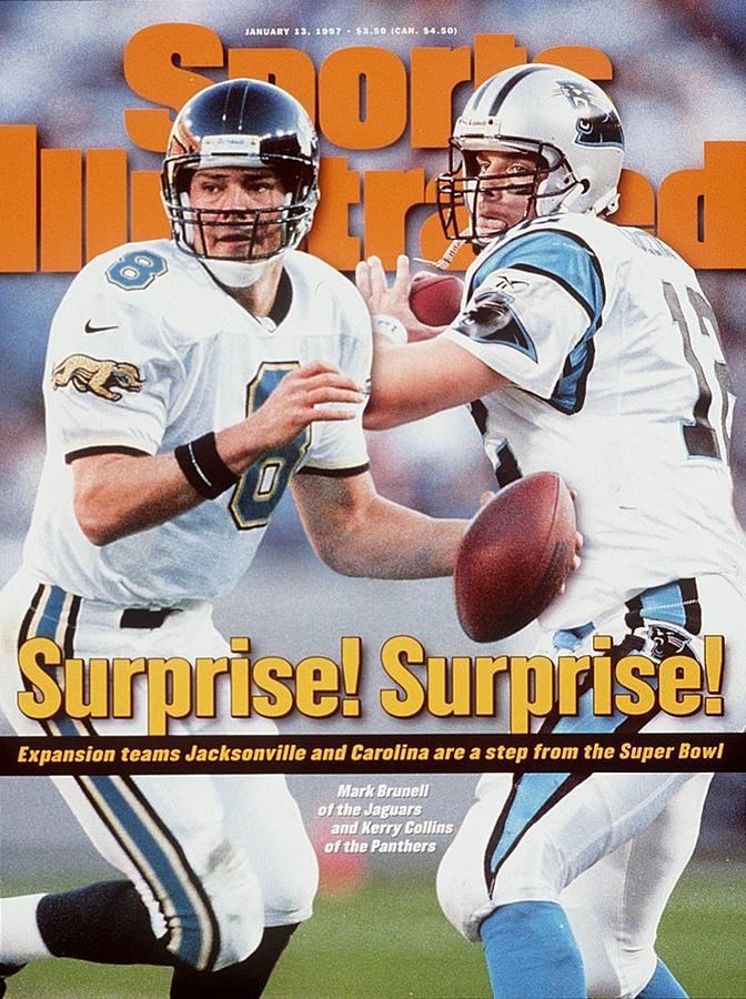 Jacksonville Jaguars Qb Mark Brunell And Carolina Panthers Sports Illustrated Cover Photograph by Sports Illustrated