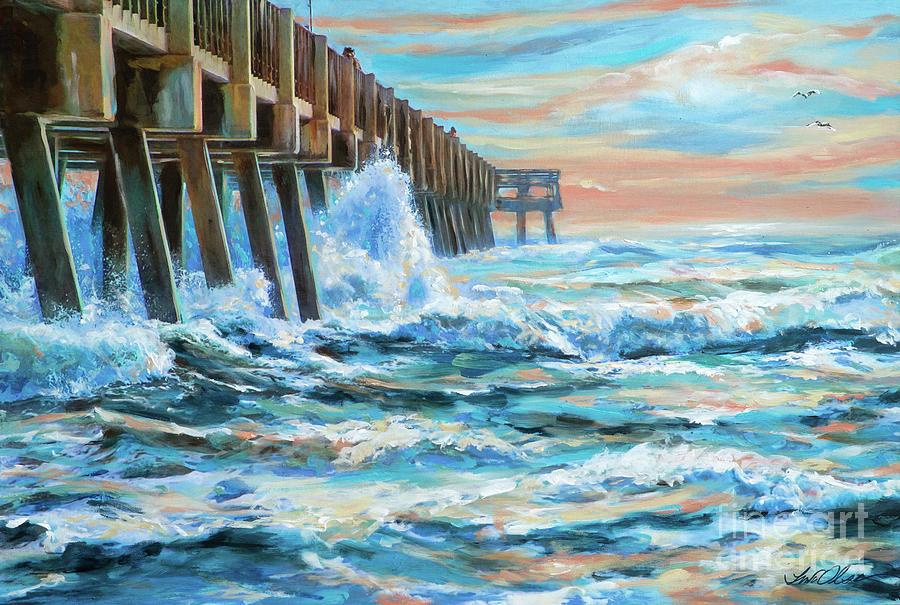 Jacksonville Pier Sunrise by Linda Olsen