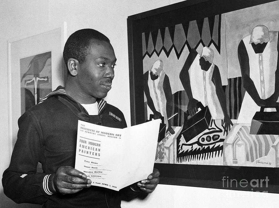 Jacob Lawrence Artist In The Coast Guard Photograph by Bettmann