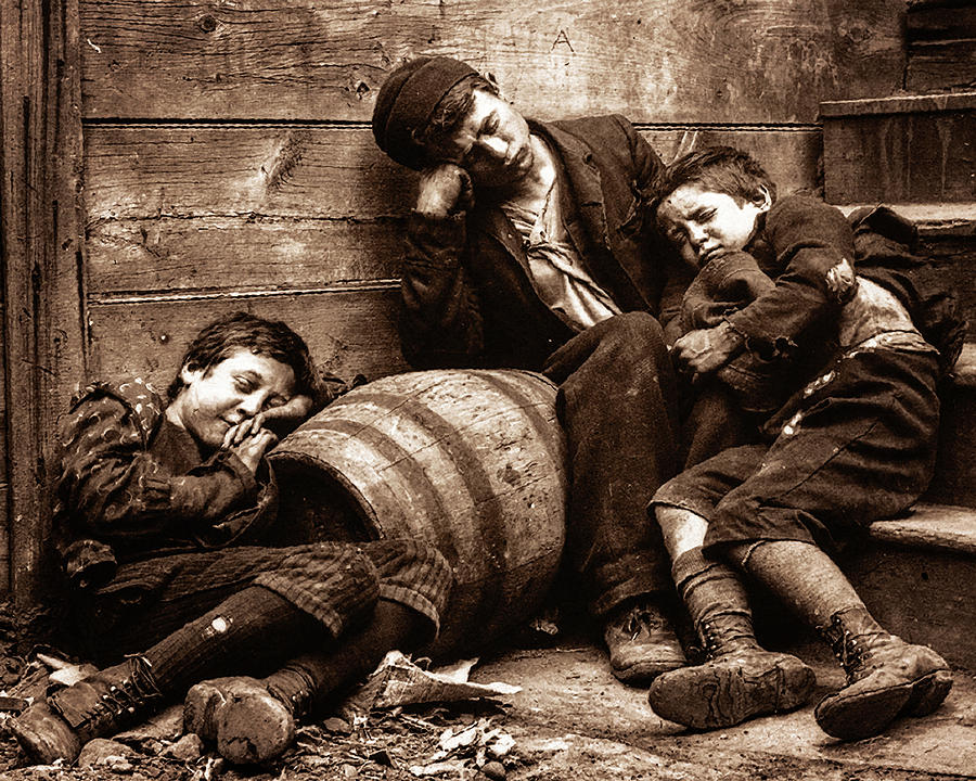 Jacob Riis' NY Street Urchins 1888 by Timothy Bulone
