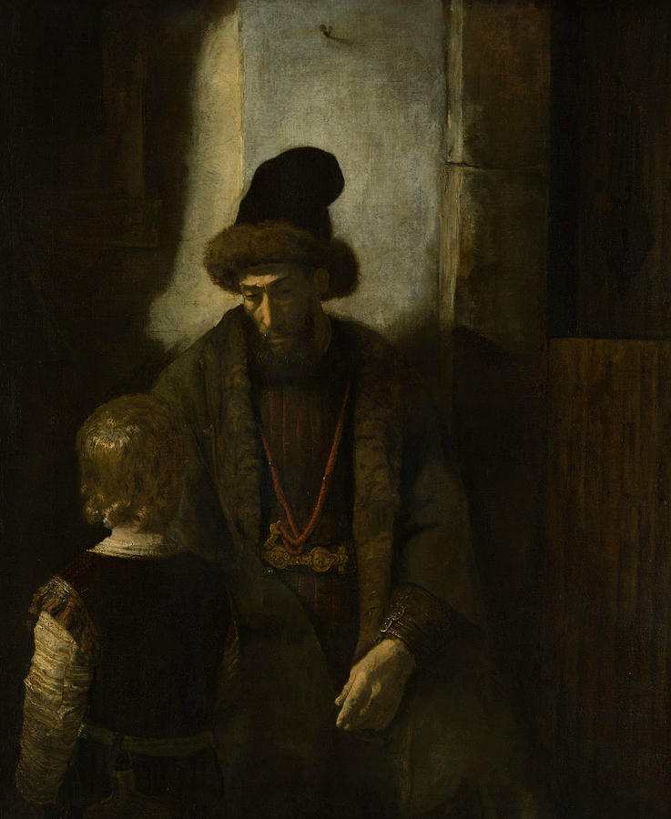 Dutch Painters Painting - Jacobs Farewell To Benjamin by Rembrandt