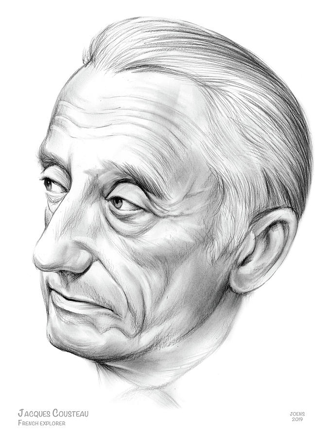 Jacques-yves Cousteau Drawing