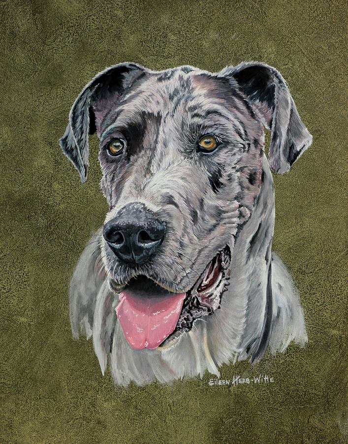 Spotted Painting - Jaeger Great Dane by Eileen Herb-witte