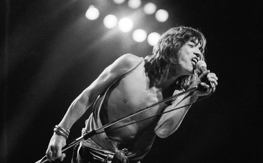 Jagger At Knebworth Photograph by Graham Wood