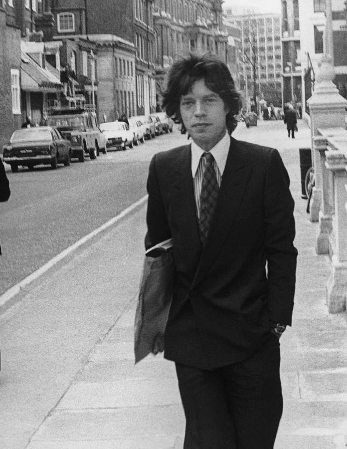 Jagger Heads To Court Photograph by Larry Ellis