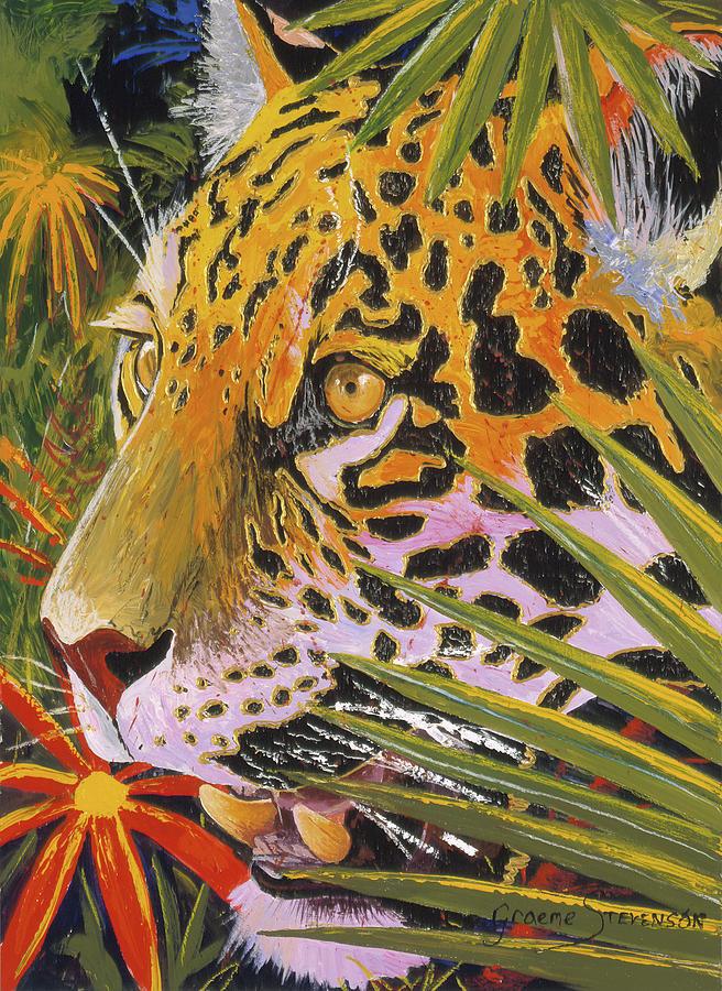 Jaguar Painting - Jaguar Jungle by Graeme Stevenson