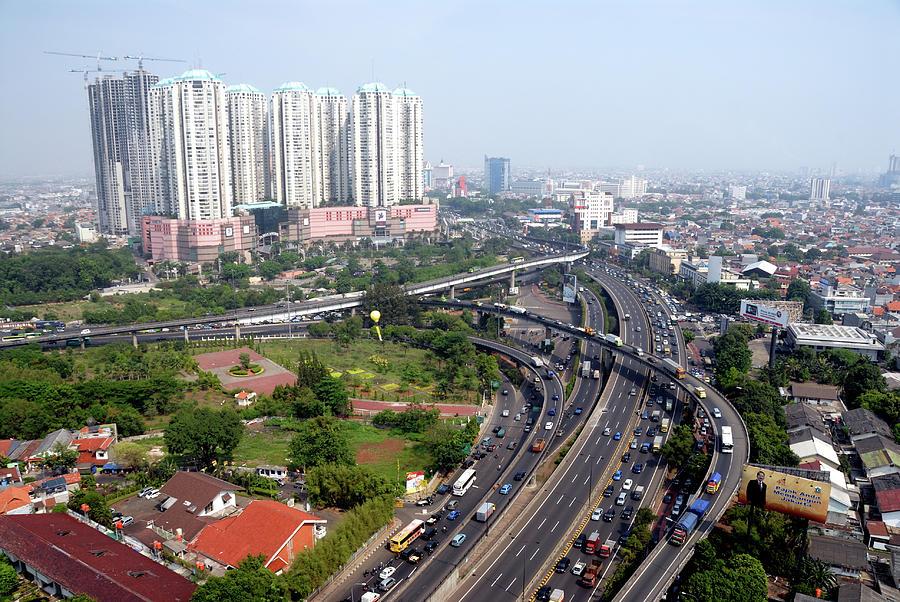 Jalarta City Center Photograph by Shenzhen Harbour