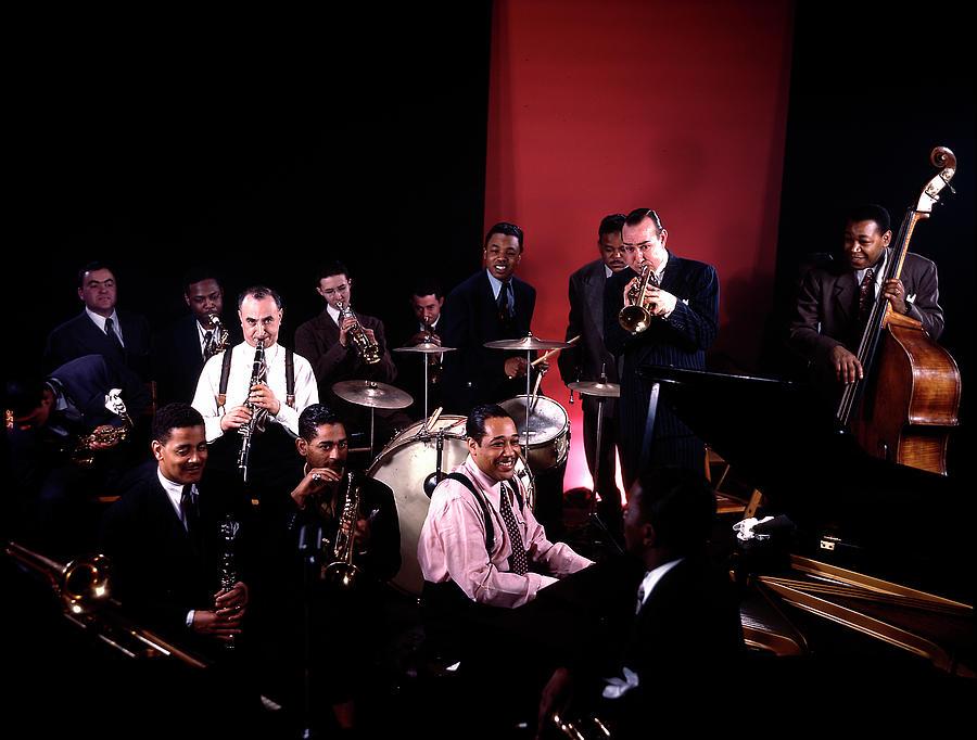 Jam Session At Gjon Milis Studio Loft Photograph by Gjon Mili