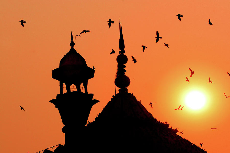 Jama Masjid Mosque At Sunset Photograph by Dennis M. Steshenko