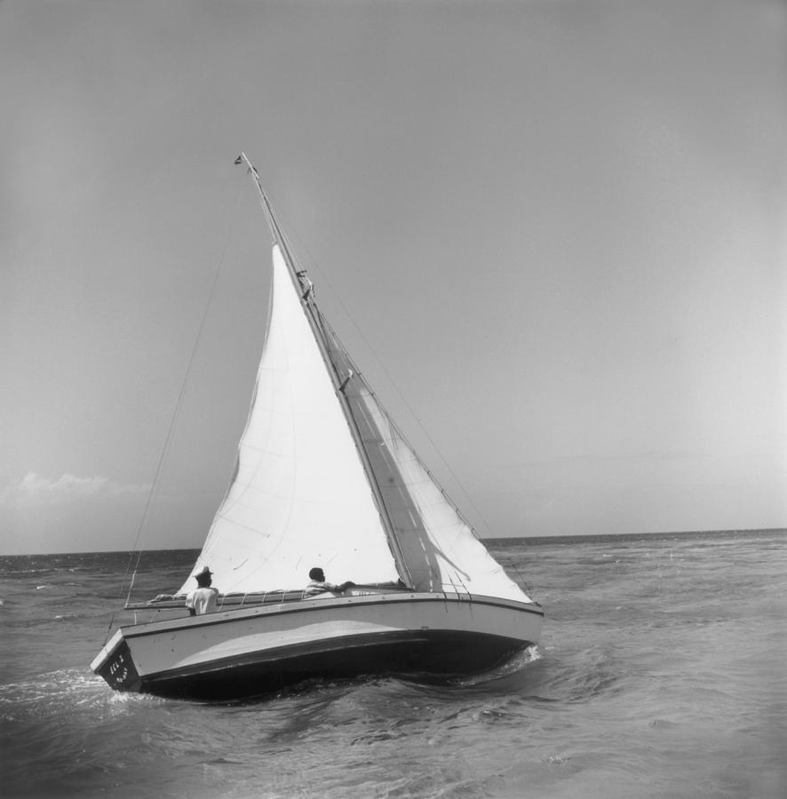 Sailboat Photograph - Jamaica Sea Sailing by Slim Aarons