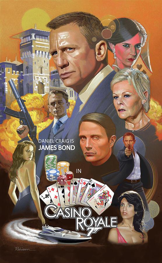 Casino Royale Pastel - James Bond Casino Royale by D Robinson