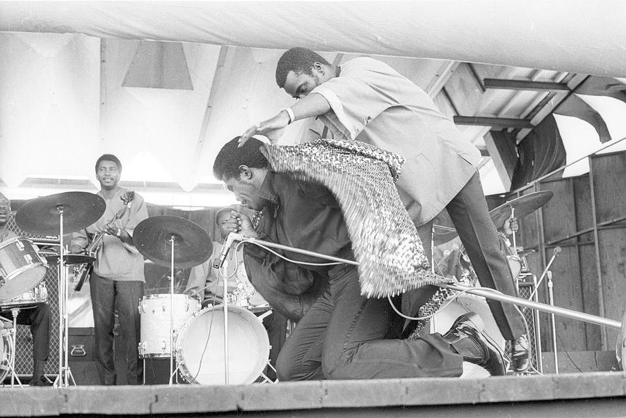 James Brown At Newport Jazz Festival Photograph by Tom Copi