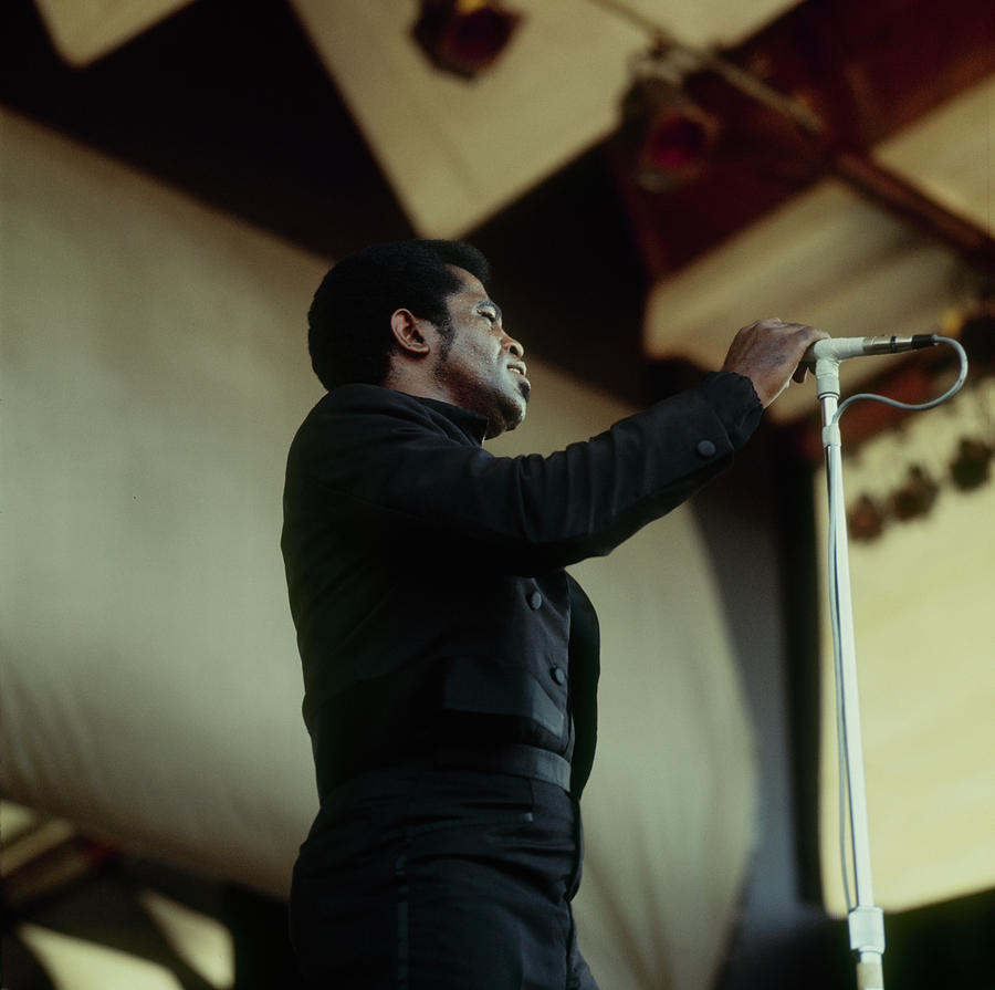 James Brown Performs At Newport Photograph by David Redfern