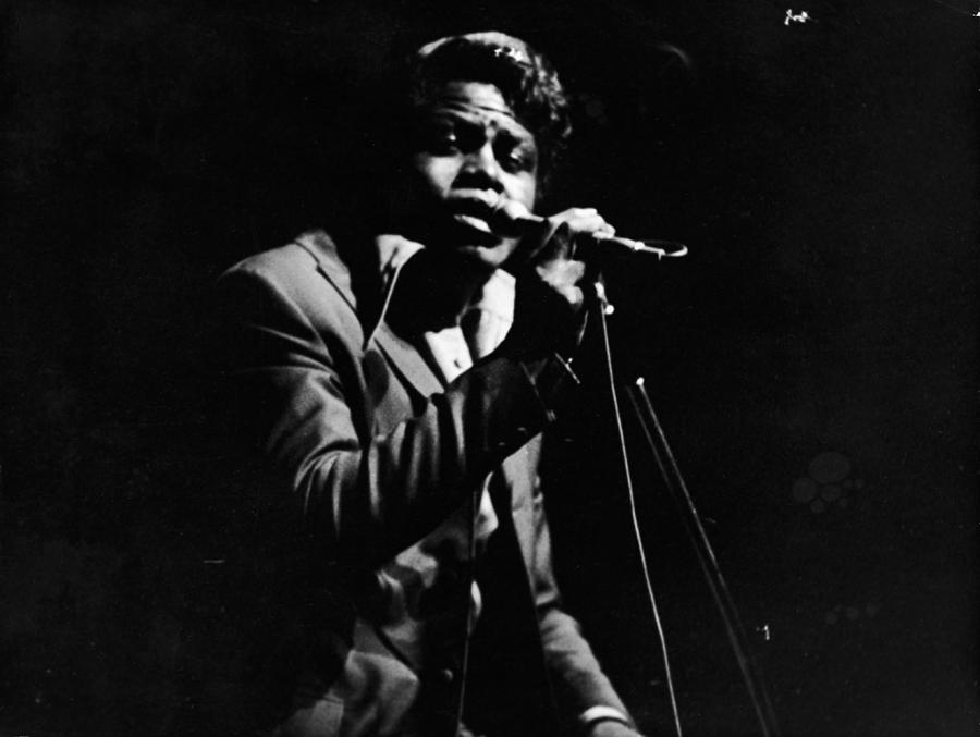 James Brown Performs On Stage Photograph by Hulton Archive