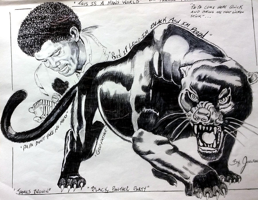 James Brown with Black Panther by Joedee